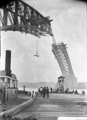 Harold Cazneaux (1878-1953), Arch over Dawes Point, Sydney Harbour Bridge, 1930. Image: National Library of Australia.