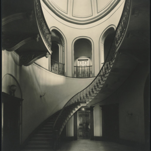 Staircase, Elizabeth Bay House, Sydney, c.1930. Image: National Library of Australia.