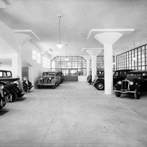 Car showroom (for Building Publishing Co) c.1938.