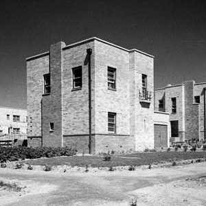Government flats attached to Manuka fire station, Canberra c.1944.