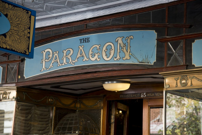 Distinctive sign board at the Paragon Restaurant in Katoomba. Photo: © Effy Alexakis.