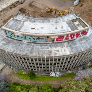 Final days of the 3M Building (c.1968) Pymble NSW.