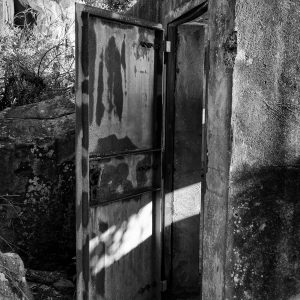 West Head Gun Battery, Ku-ring-gai Chase National Park, Sydney NSW. Rear door to the observation post, 30m behind the Number 2 Gun.
