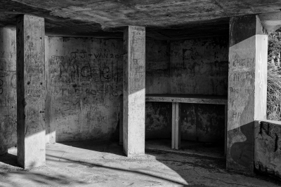 West Head Gun Battery, Ku-ring-gai Chase National Park, Sydney NSW. Storage areas within Number 2 Gun emplacement.