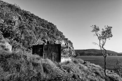 West Head Gun Battery, Ku-ring-gai Chase National Park, Sydney NSW. Number 2 Gun exterior view.