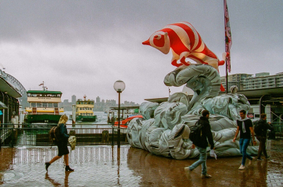 An inflatable sculpture at Circular Quay forming part of Chinese New Year celebrations, 2020.