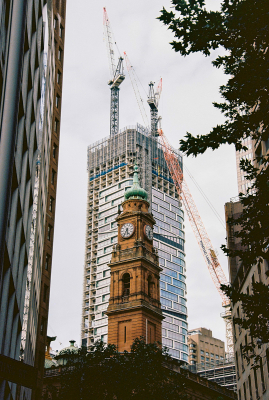 The old and the new, near Circular Quay.